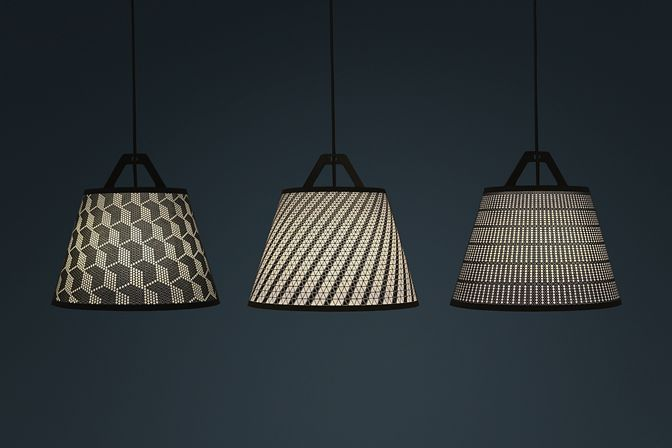 Laser cut lampshades.