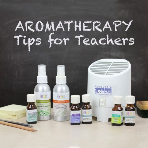 Aromatherapy tips and ideas for Teachers, change the atmosphere in the classroom with just a scent!! Great Idea