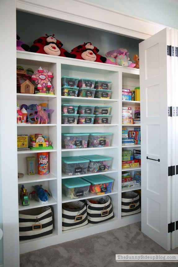 Now that's an organized play closet!   Sunny Side Up