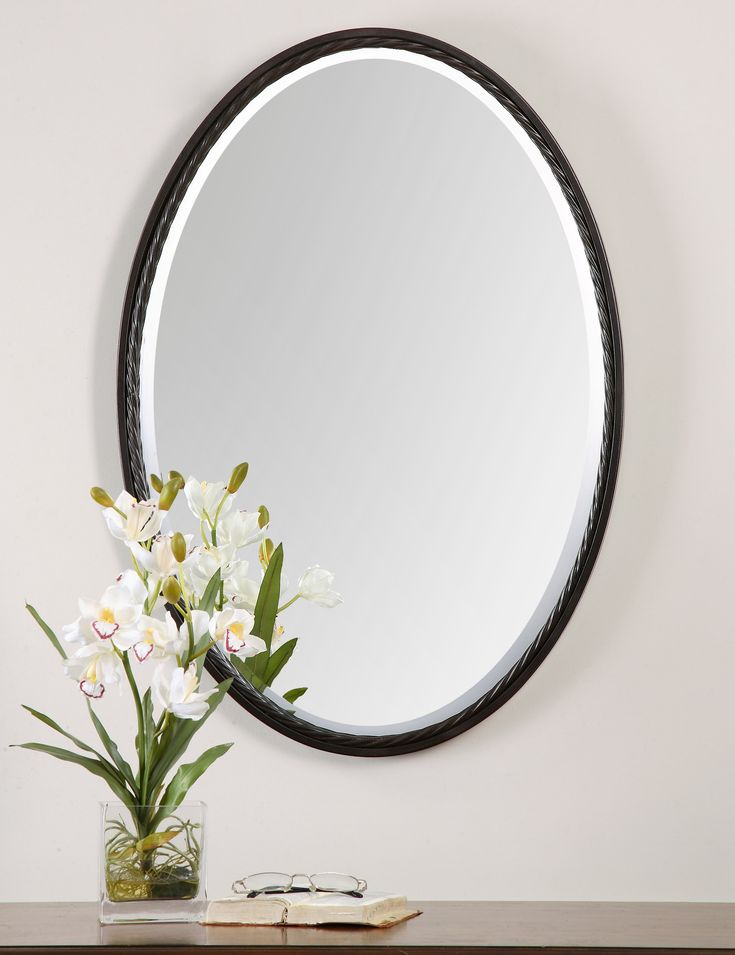 Uttermost Casalina Oil Rubbed Bronze Oval Mirror Bathroom