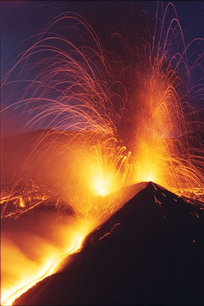 Etna Volcano, South Italy.  It wakes up when it's the moment to do it. It doesn't ask for permission.