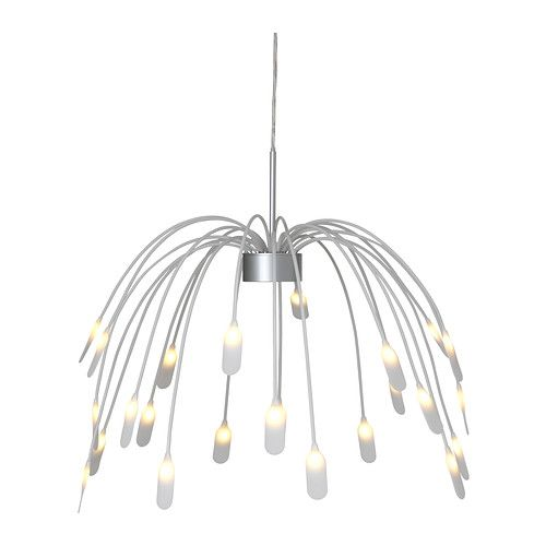 IKEA - HÄGGÅS, LED pendant lamp,  ,  , , LED light at the end of each arm creates an exciting light effect.The LED light source consumes up to 85% less energy and lasts 20 times longer than incandescent bulbs.