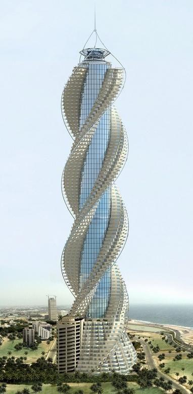 Torre Diamante, ubicada en Jeddiah, Arabia Saudita. Compuesta por 93 pisos y cuenta con una altura de 432 metros