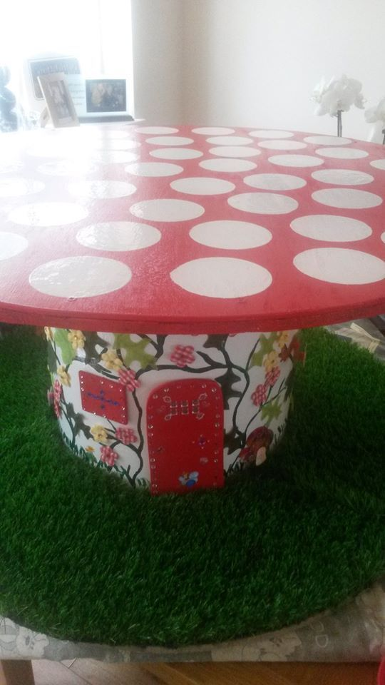 cable reel table for children - Google Search