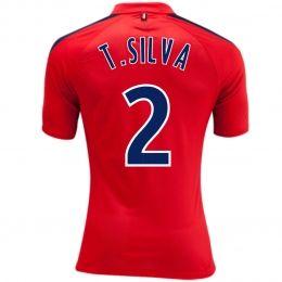 efef6681ac1 ... psg fc 2014 15 season t.silva 2 away red soccer jersey ...