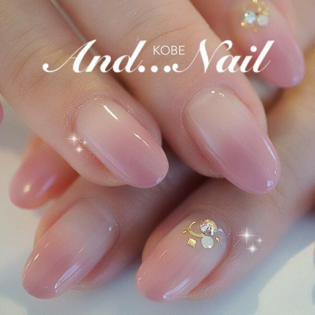 simple pink nail art design for wedding