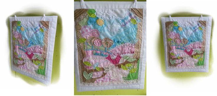 Mesekép Textilkép quilt