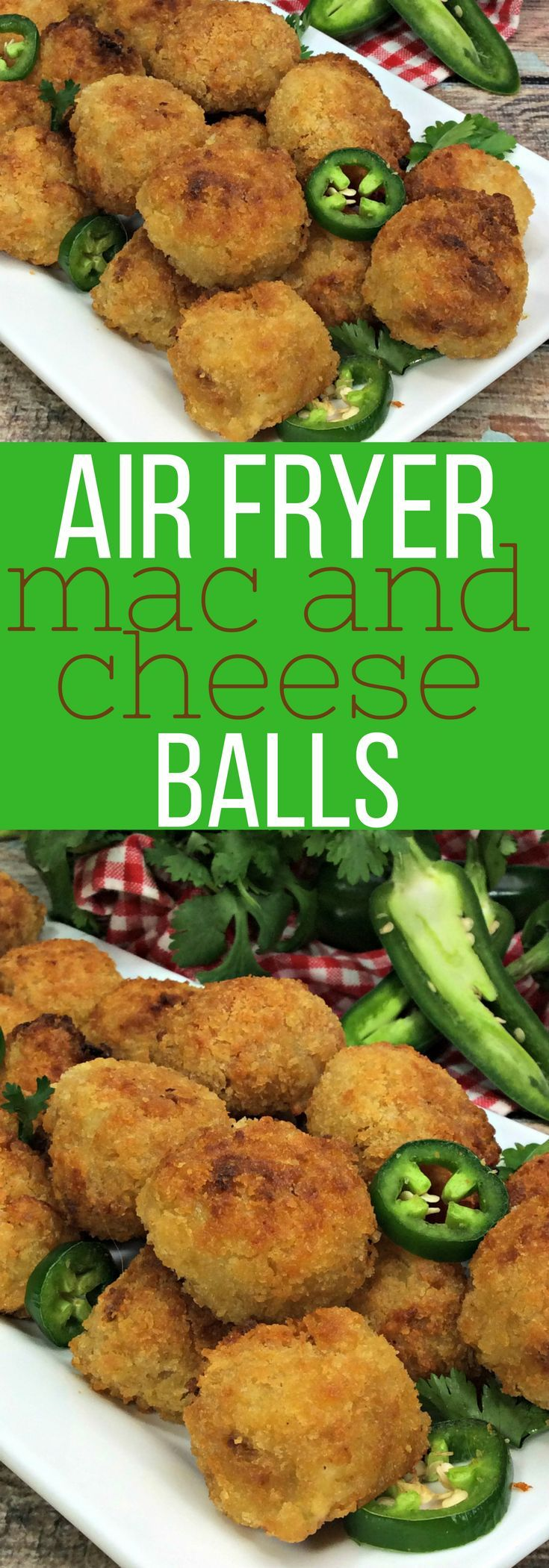 These Air Fryer Mac and Cheese Balls are classic comfort food at its finest. You will love the crispy outside and creamy cheese center. Mac and Cheese balls recipe in an Air Fryer at its finest.