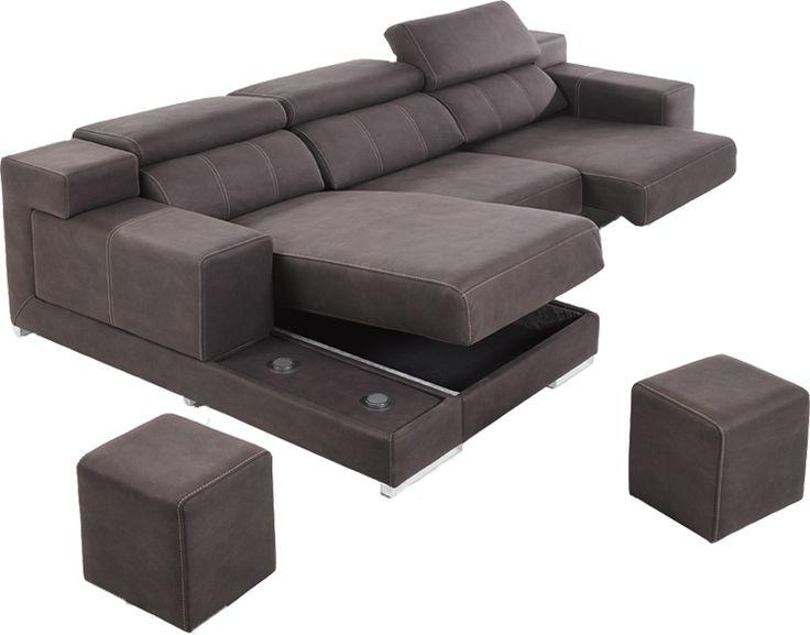 El modelo #Cuzco está pensado para aprovechar al máximo el espacio #sofá #chaiselongue #puff
