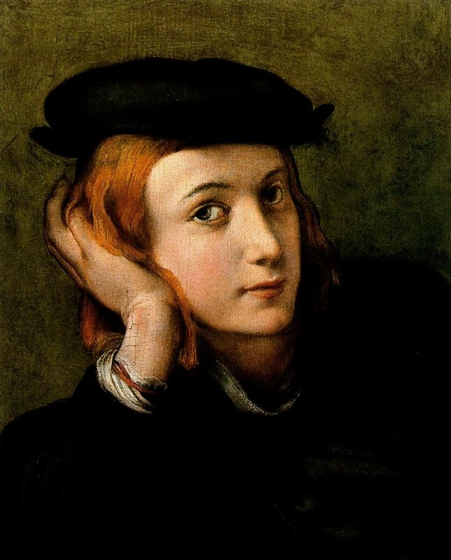 Correggio (Italian; High Renaissance, Mannerism, 1489–1534): Portrait of a Young Man, 1525. - Google Search