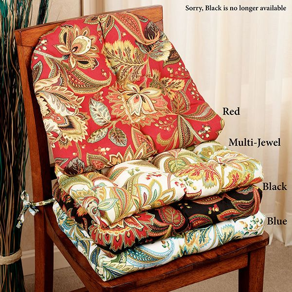 Give Your Indoor Or Outdoor Chairs New Life With The Valbella Jacobean Floral Indoor Outdoor C Dining Room Chair Cushions Kitchen Chair Cushions Chair Cushions