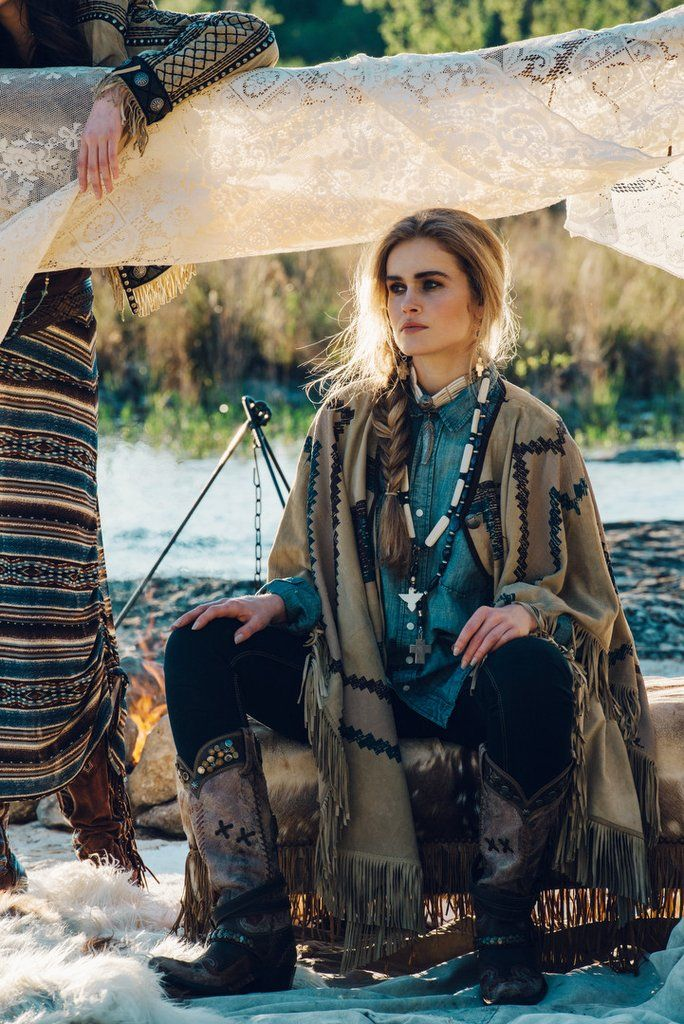 Manta Hermosa Poncho by Double D Ranch   Mi Tierra Collection, Pre-Fall 2016