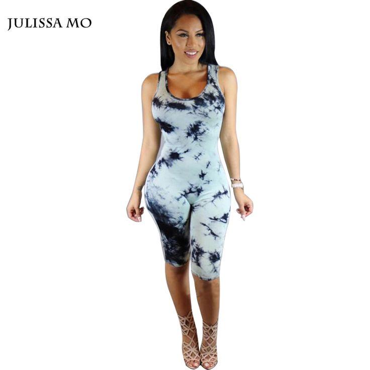 Aliexpress.com: Koop 2016 Zomer Rompertjes vrouwen Jumpsuits Bodysuits Sexy Print Katoen Mouwloze Hol Elegante Shorts Bodycon Overalls Playsuit van betrouwbare katoen voor beddengoed leveranciers op Kiss Boutique