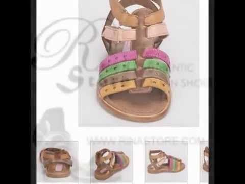 Children's Sandals On Sale! Made in Italy by Cherie available at Rina's Boutique - YouTube
