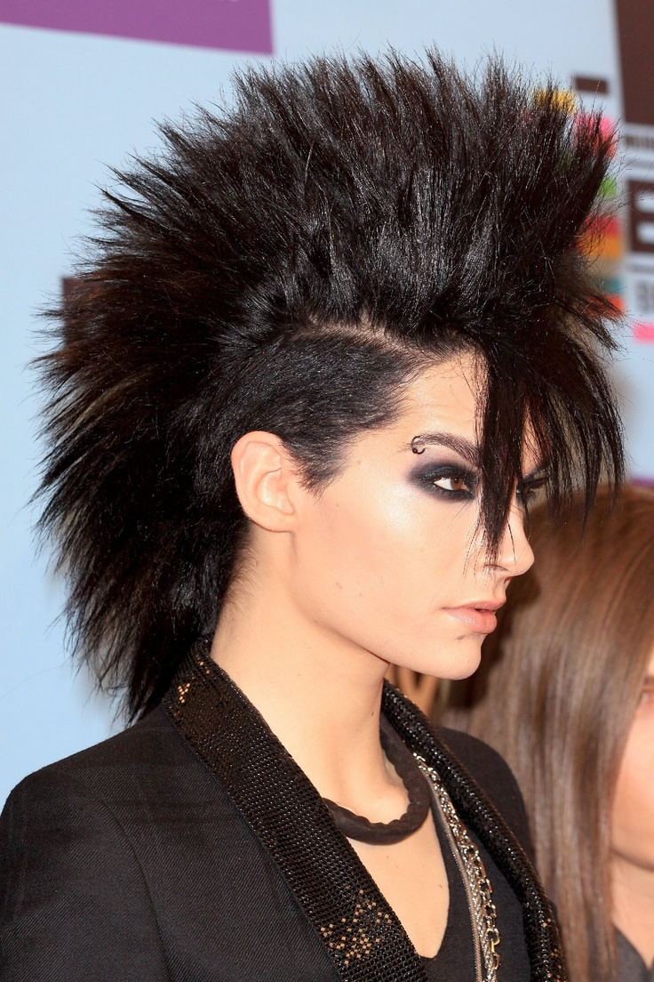 Bill Kaulitz Tokio Hotel Mohawk How! Mine wont stay up - Black Female Mohawk Hairstyles