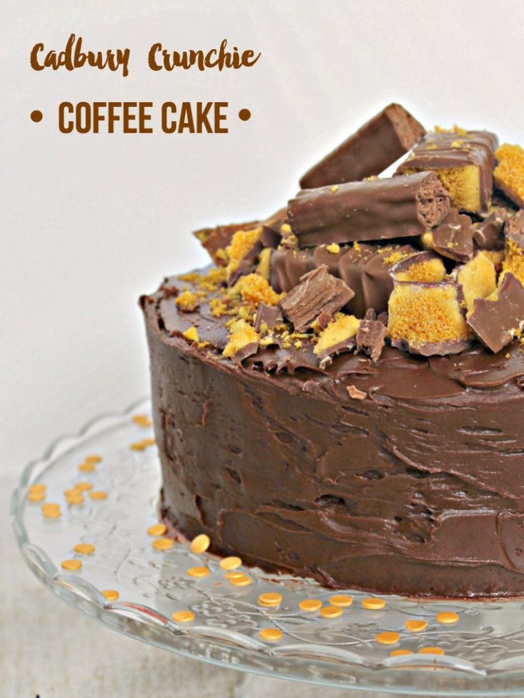 Cadbury's Crunchie Coffee Cake with a twirl - Lets Talk Mommy