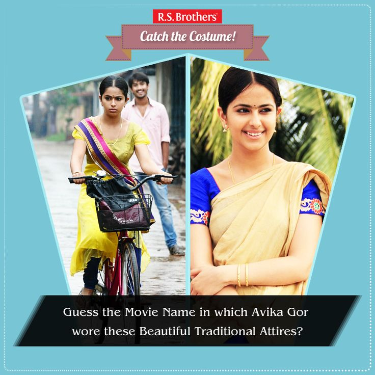 ‪#‎Catch‬ the ‪#‎Costume‬  Guess the Movie name? In which Movie ‪#‎Smiley‬ Actress ‪#‎AvikaGor‬ wore this beautiful traditional ‪#‎Churidar‬ & ‪#‎Saree‬? Share your answers in comments. (Image copyrights belong to their respective owners)