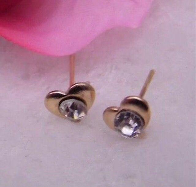 Gold Tone Crystal Love Heart Stud Earrings #gold #crystal #love #heart #earrings #studearrings #jewellery #ladies http://m.ebay.co.uk/itm/Free-Gift-Bag-Gold-Tone-Crystal-Love-Heart-Stud-Earrings-Ladies-Jewellery-Cute-/282038148944?nav=SELLING_ACTIVE