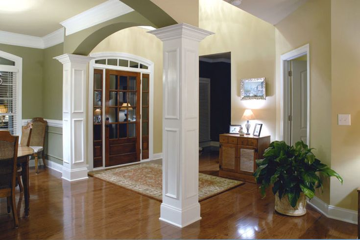 Moulding On Columns | Building A House | Pinterest | Ceiling Trim, Columns  And Dark Wood