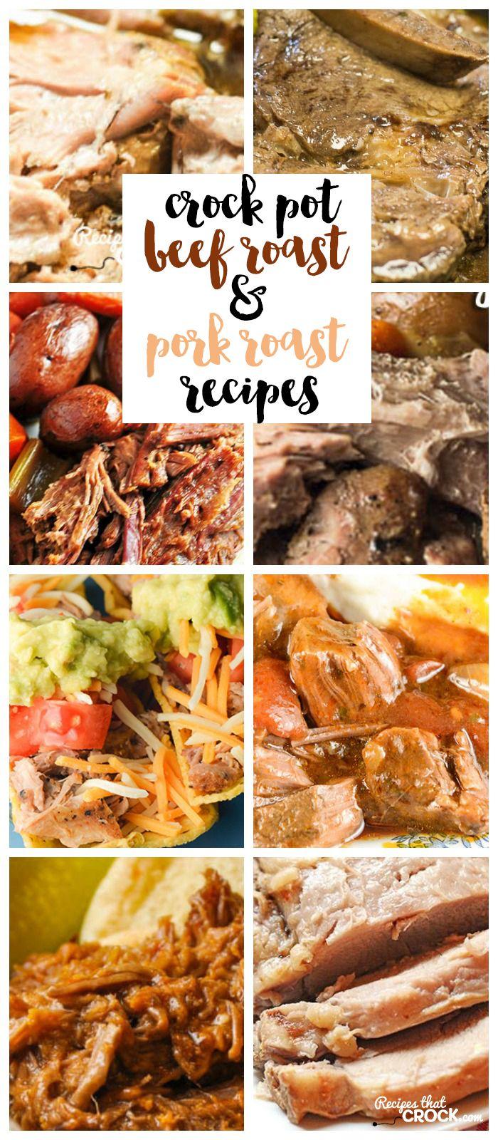 Crock Pot Beef Roast And Slow Cooker Pork Roast Recipes Pork Slow Cooker Pork Roast And Roast
