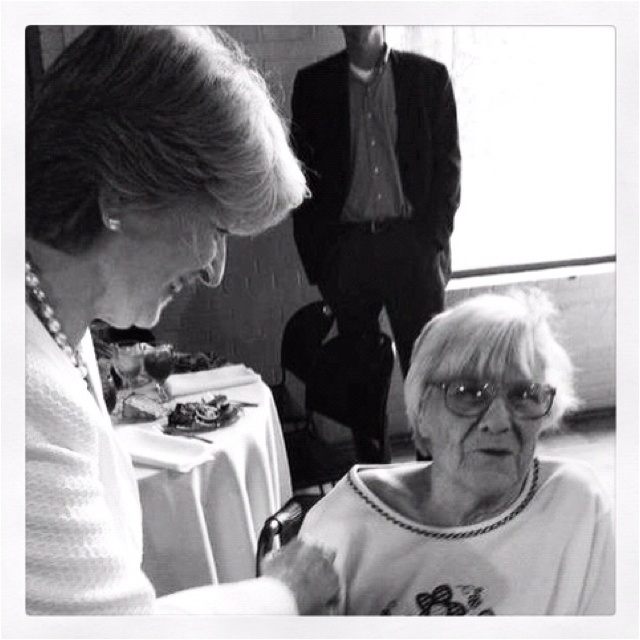 Fannie Flagg & Harper Lee.  Ms. Lee wrote To Kill a Mockingbird