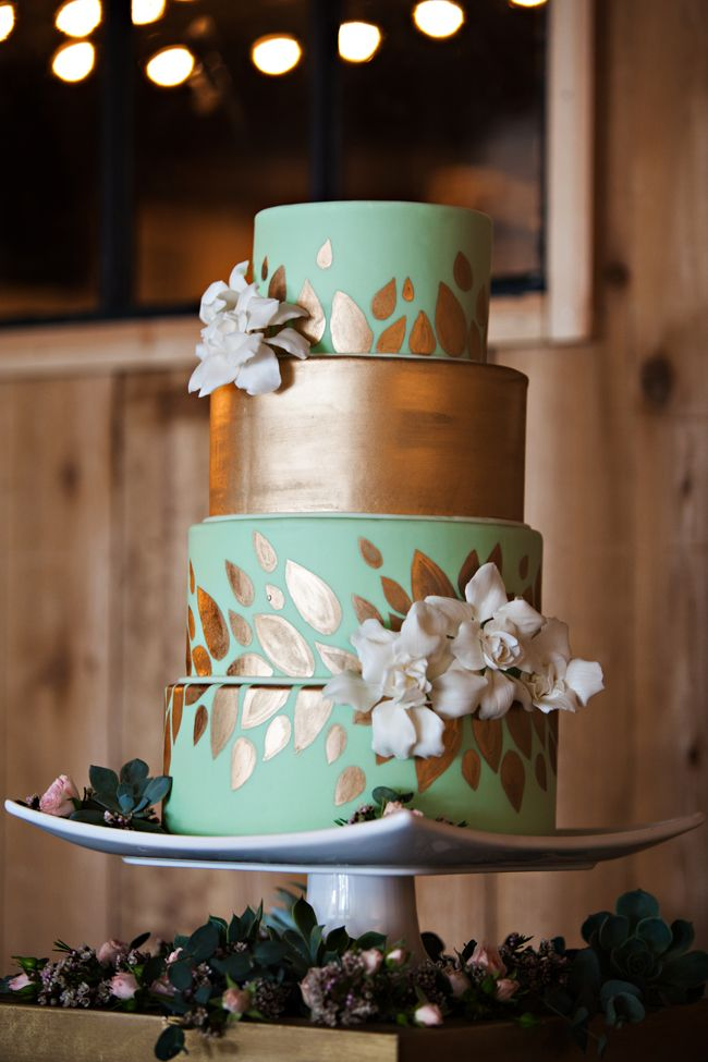 Mint, Gold & Pink Wedding Inspiration - see more at http://fabyoubliss.com