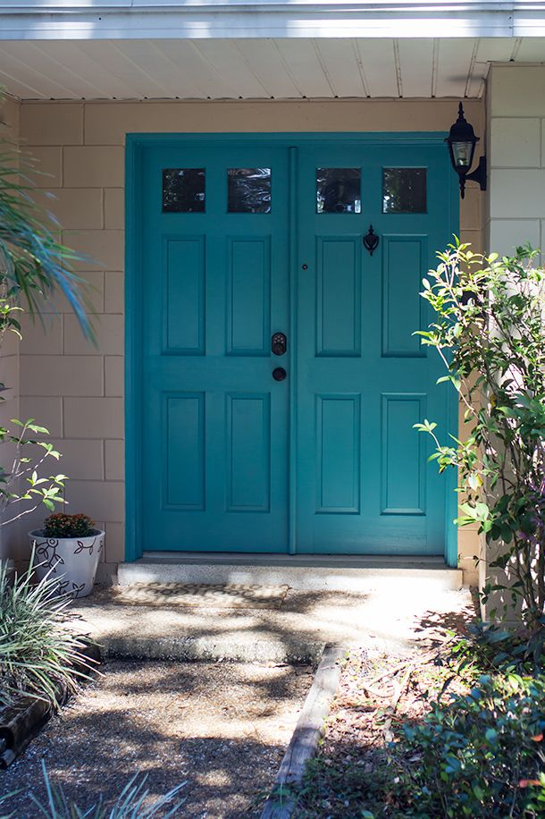 Colors For Front Doors: Painted Front Doors, Teal Front