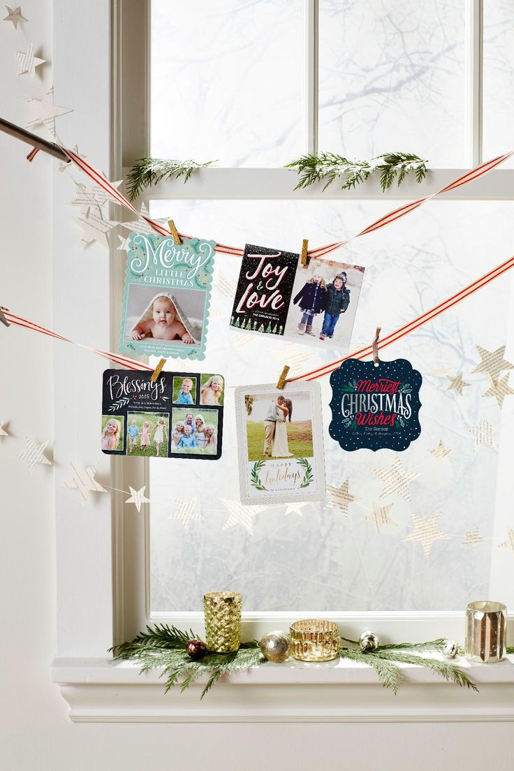 344 best holiday cards images on pinterest no christmas card clutter here arrange cards with ribbon along a window to show them magicingreecefo Image collections