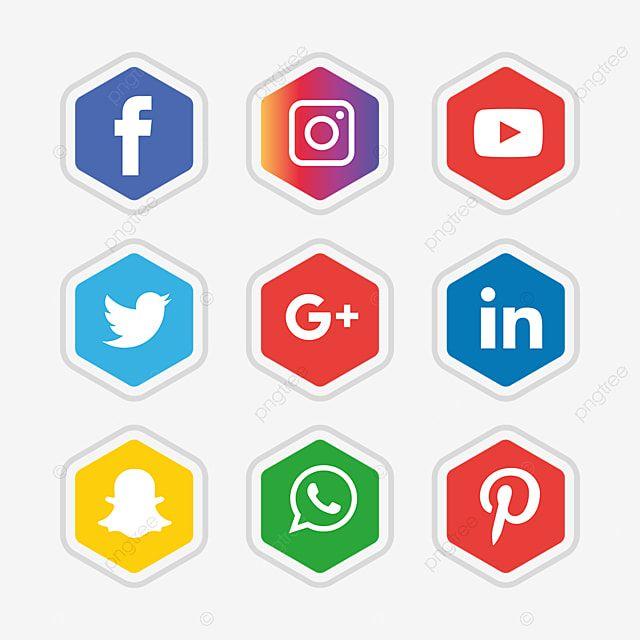 وسائل الاعلام الاجتماعية مجموعة أيقونات ناقلات مجانا تصميم قالب الشعار وسائل التواصل الاجتماعي المرسومة الرموز الاجتماعية شعارات أيقونات Png والمتجهات للتحمي Logo Design Free Templates Logo Design Free Social Media Icons