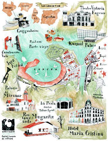 Camille Vannier - Map of San Sebastian Donostia