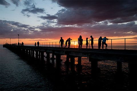 Sunset Silhouette, at Mordialloc Pier for Daily Bay
