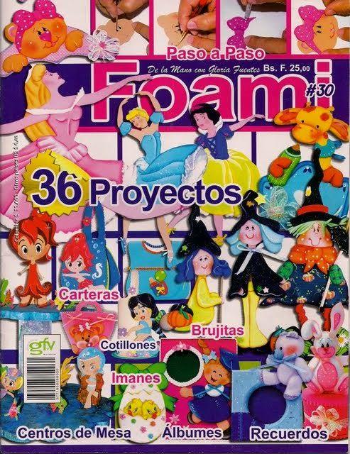 Revistas de Foamy gratis: moldes para hacer figuras de disney foamy