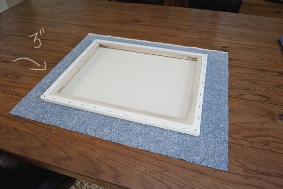 Fabric Covered Canvas
