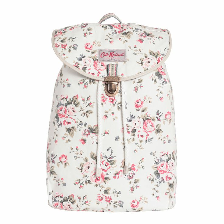 Backpacks | Westbourne Rose Cotton Backpack | CathKidston