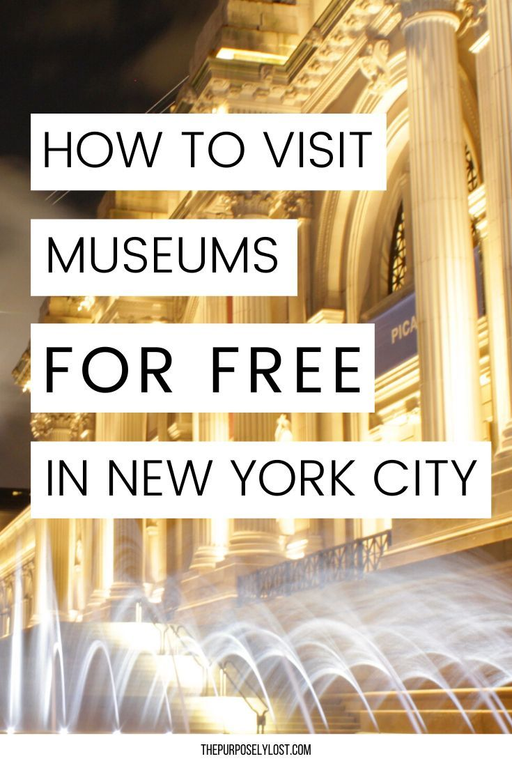 How To Visit New York City Museums Without Breaking The Bank In 2020 With Images Visiting Nyc Visit New York City New York City Museums
