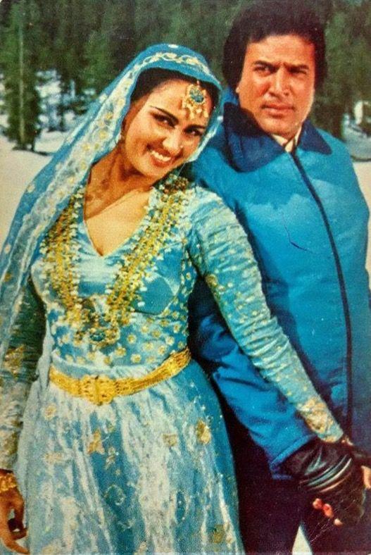 Reena  Roy and Rajesh Khanna