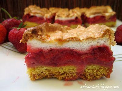 Obżarciuch: Ciasto z truskawkami i bezą