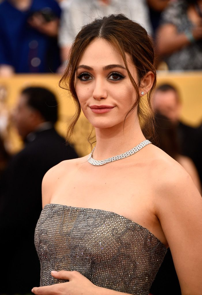 Emmy Rossum's Princess Updo and Sultry Kohl Liner - Best Beauty at the 2015 SAG Awards - StyleBistro