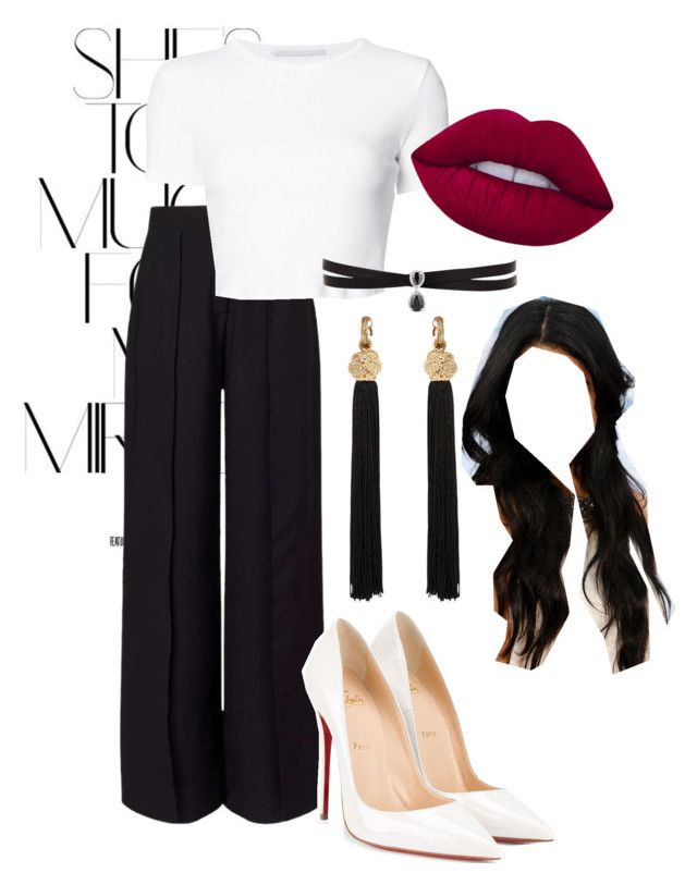 """unitiled No.   285"" by catherine-megan-jones on Polyvore featuring Rika, Miss Selfridge, Christian Louboutin, Yves Saint Laurent, Rosetta Getty, Fallon and Lime Crime"