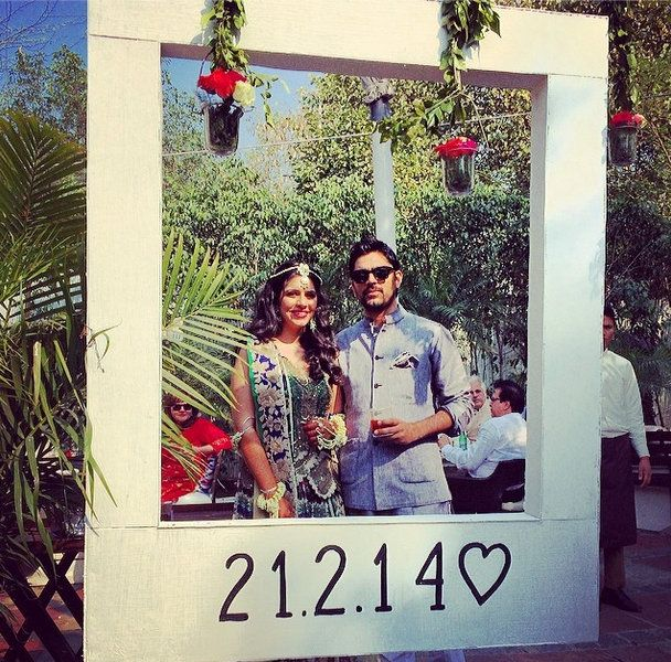 5 Insanely Fun Ideas for your Indian Wedding !  photo booth at wedding not reception - as people get bored - and they should be able to write messages on a chalk board