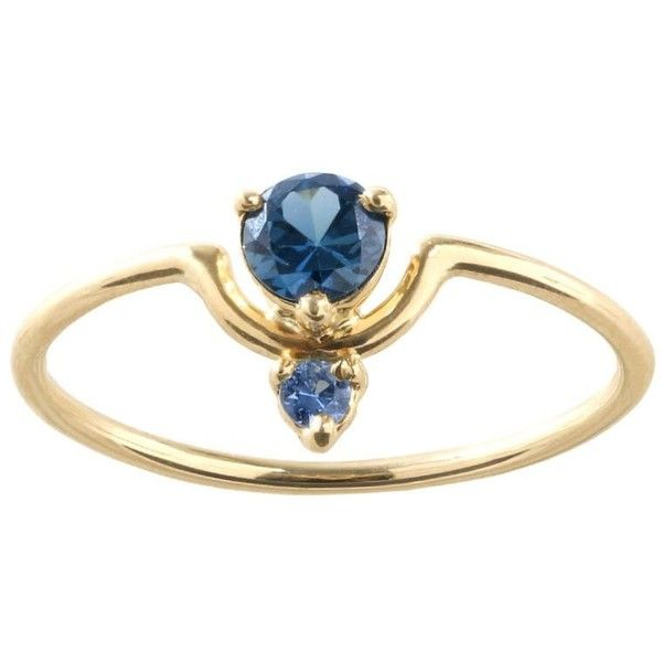 One of a Kind Small Nestled Dark and Light Blue Sapphire Ring (€1.260) ❤ liked on Polyvore featuring jewelry, rings, dark blue sapphire ring, blue sapphire ring, dark ring, dark jewelry and blue sapphire jewelry