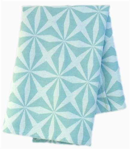 Sne Design, Babydeken, 80 x 100 cm, Kaleidoskop, Aqua Dekentjes & plaids Textiel Kinderkamers online bij Lekmer.nl