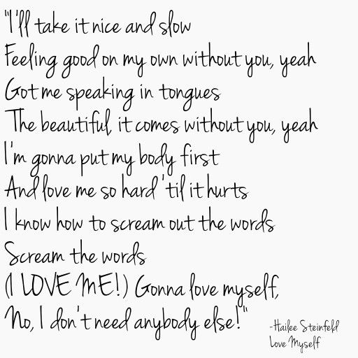 Hailee Steinfeld Love Myself Lyrics