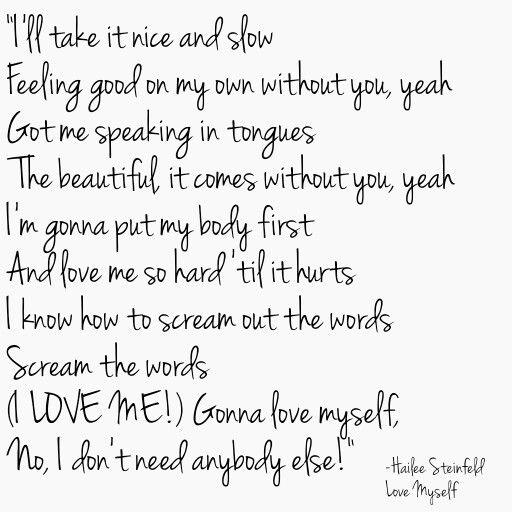 Hailee Steinfeld Love Myself Lyrics