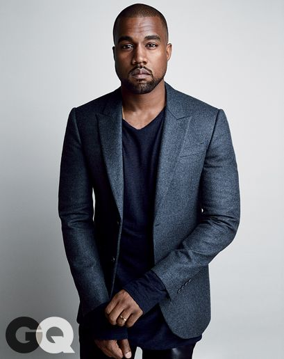 Kanye West for GQ August 2014 by Patrick Demarchelier