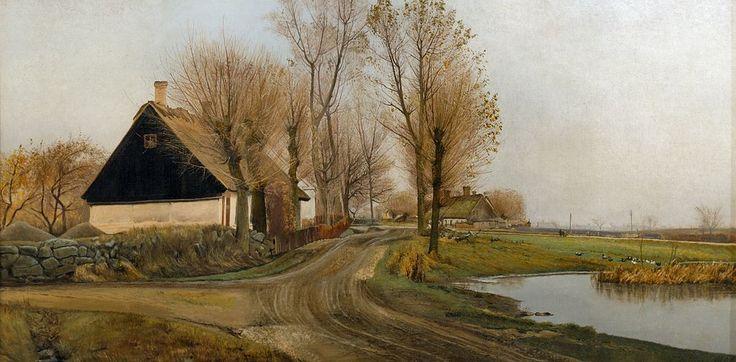 Laurits Andersen Ring -Village street in...