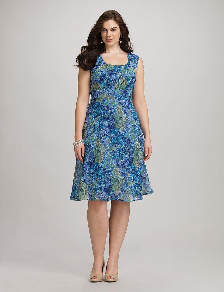 Plus Size Dresses Plus Size Watercolor Floral Dress