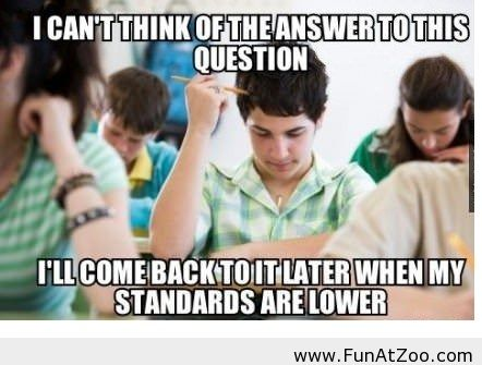 Funny situation at exam - Funny Picture