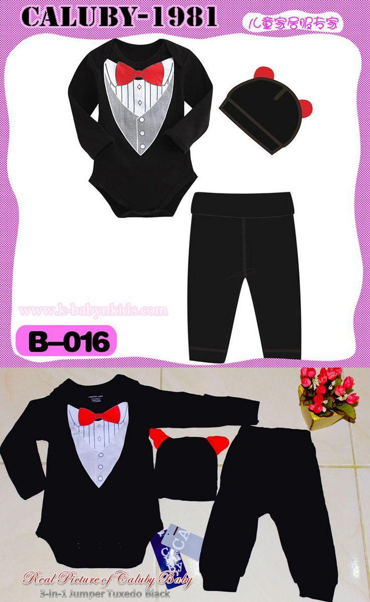 Caluby Baby 3-in-1 jumper tuxedo Black    k-babynkids.com   Grosir Perlengkapan Bayi, Aksesoris Bayi, Mainan Bayi