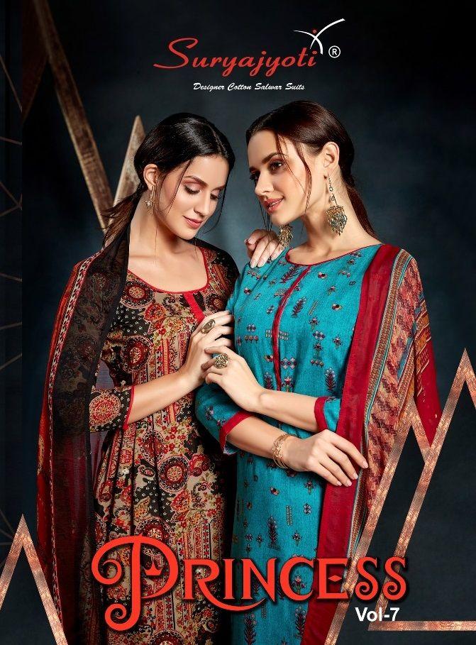 f338eb7821 New Arrival Collection :- Suryajyoti Princess Vol-7 Rayon Dress Material  Catalog Name :